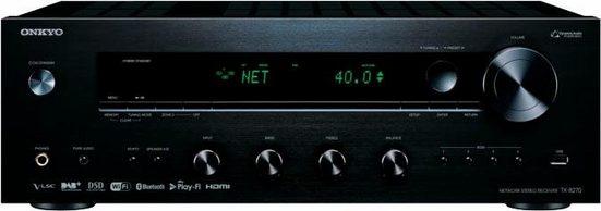 Onkyo »TX-8270« Stereo-Netzwerk-Receiver (LAN (Ethernet), WLAN, Bluetooth, Integrierter Chromecast-Technologie sowie DTS)
