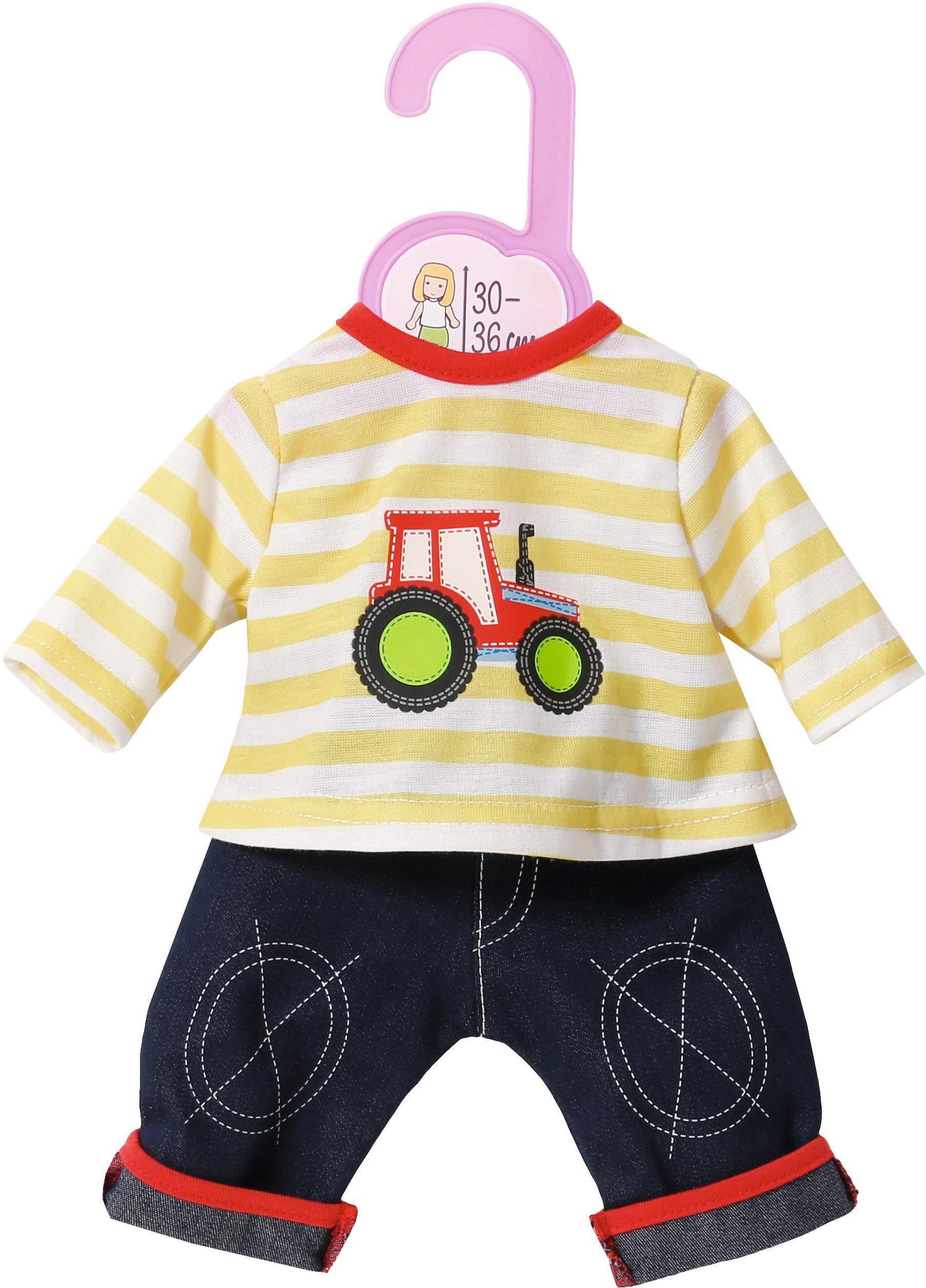 Zapf Creation Puppenbekleidung Größe 30-36 cm , »Dolly Moda Jeans mit Shirt«