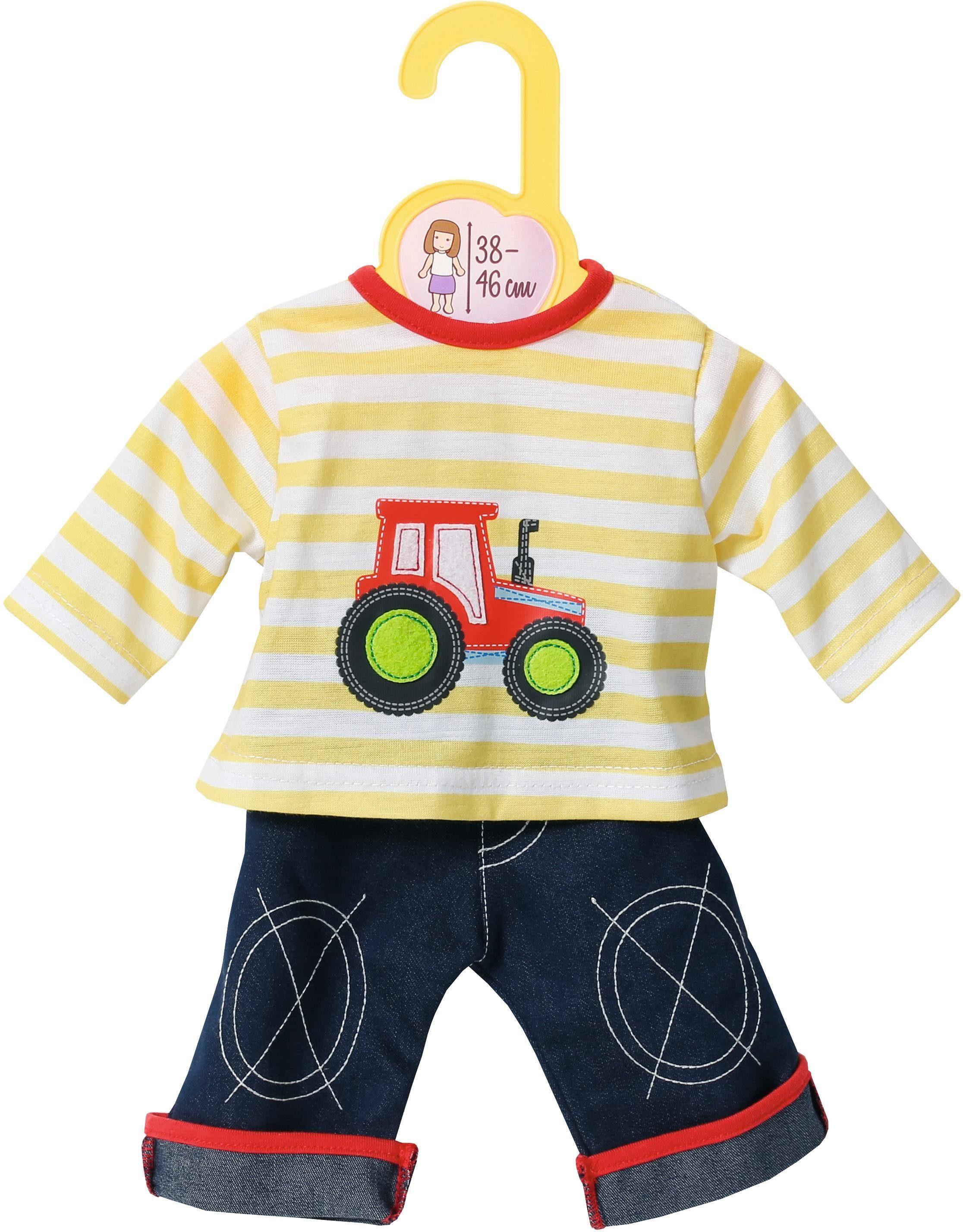 Zapf Creation Puppenbekleidung Größe 38-46 cm , »Dolly Moda Jeans mit Shirt«