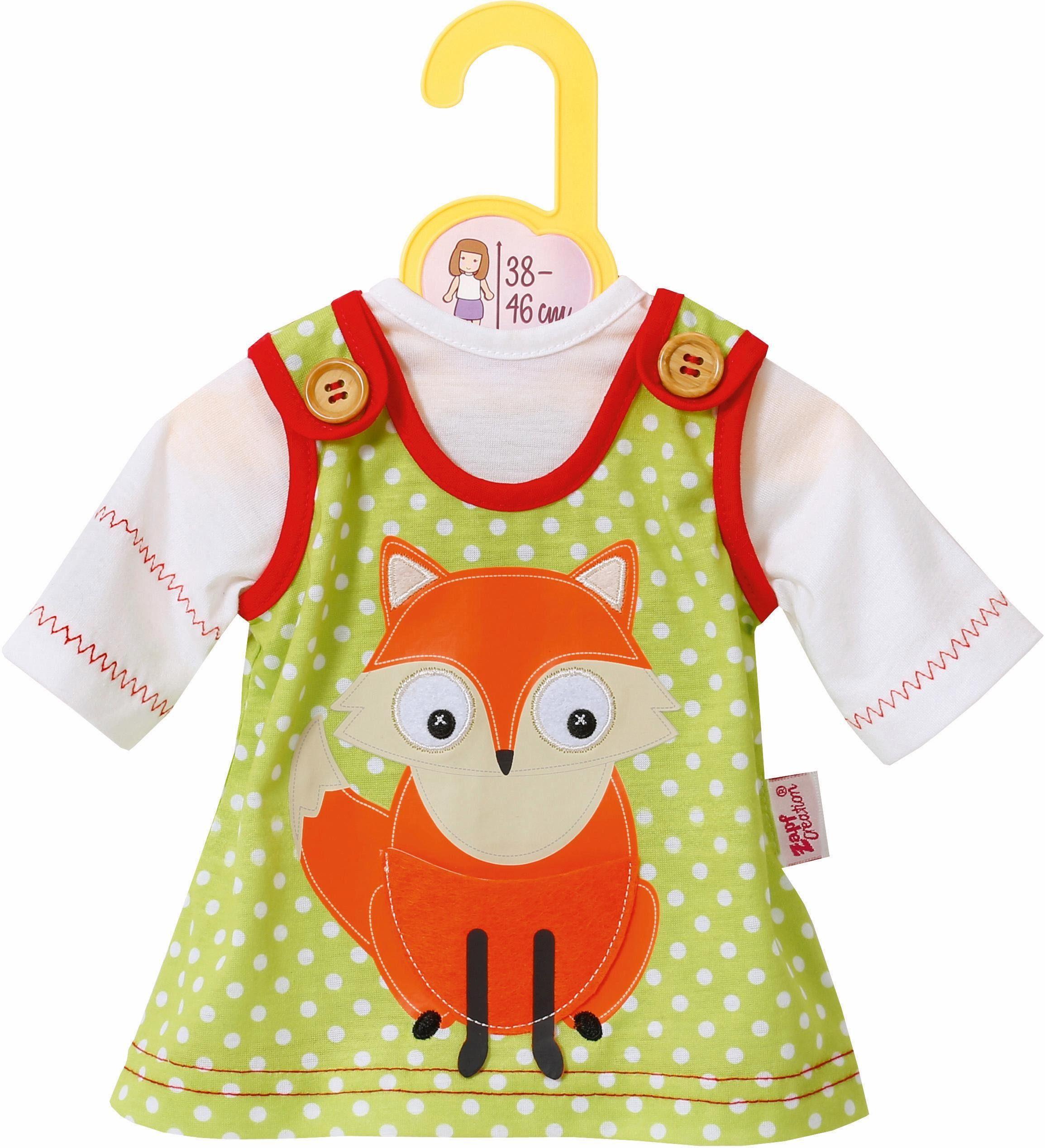 Zapf Creation Puppenbekleidung Größe 38-46 cm, »Dolly Moda Kleid mit Fuchs«