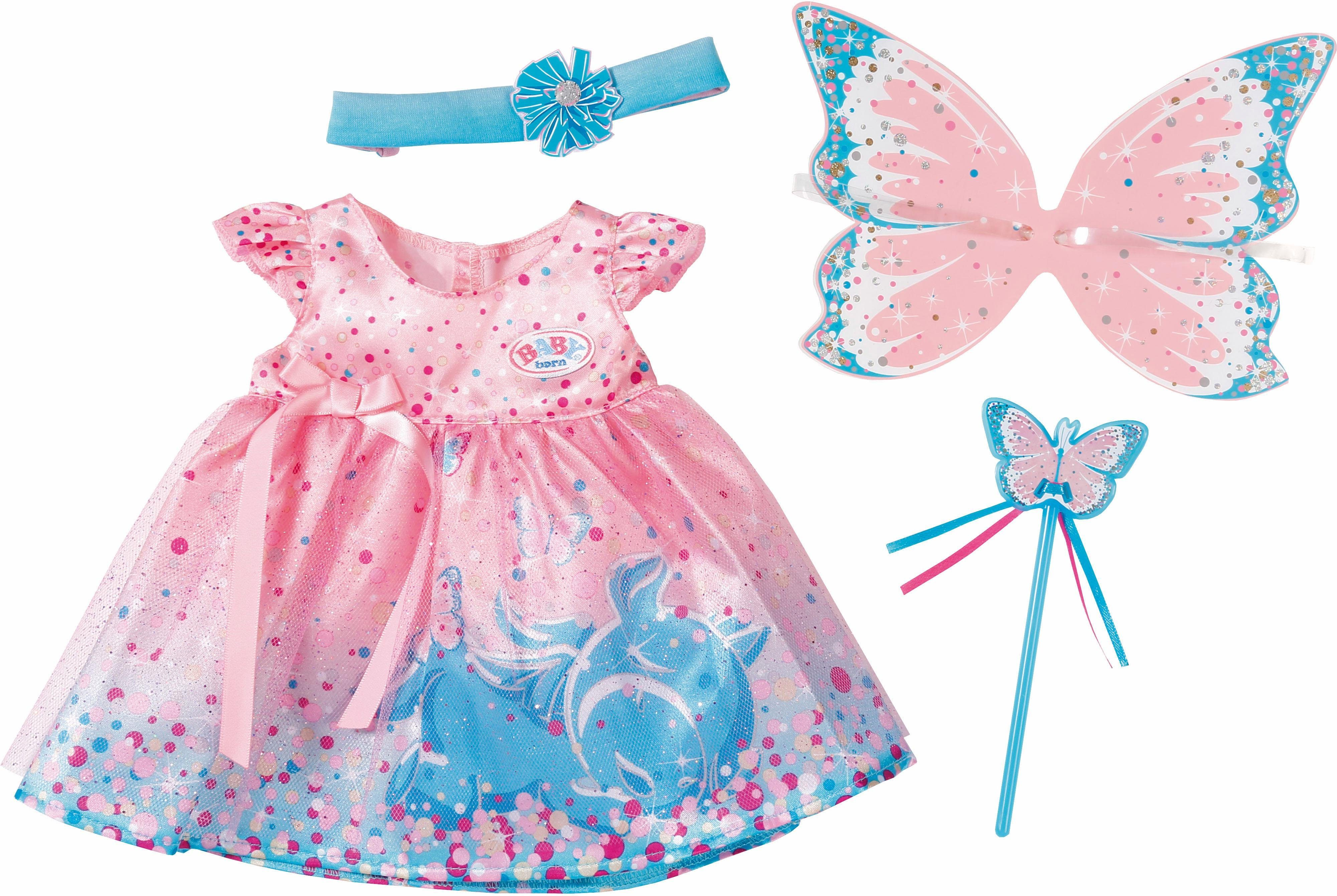 Zapf Creation Puppenbekleidung mit Zubehör, Größe 43 cm, »BABY born® Wonderland Glitzerfee Set«