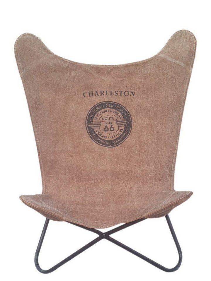 Kasper wohndesign stuhl sessel metallgestell mit canvas for Wohndesign versand