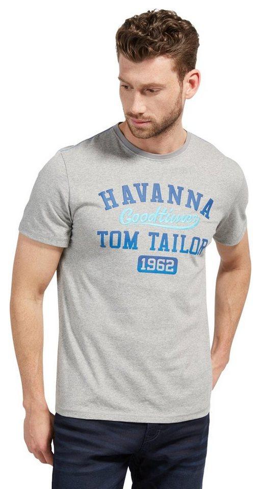 tom tailor t shirt t shirt mit schriftzug kaufen otto. Black Bedroom Furniture Sets. Home Design Ideas