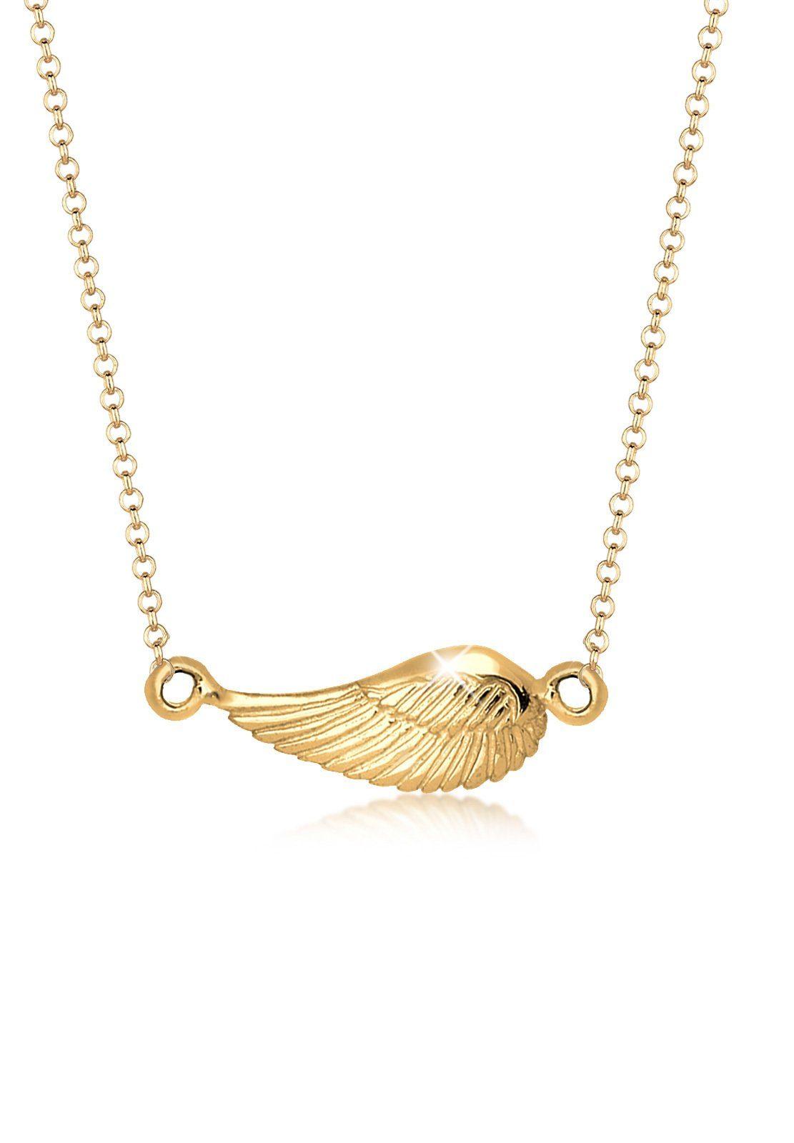 Goldhimmel Halskette »Flügel Liegend 925 Sterling Silber«