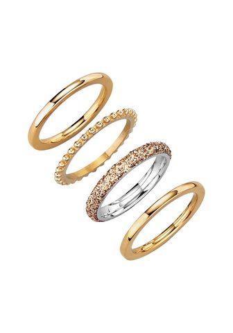 JACQUES LEMANS Žiedų rinkinys »Edelstahl vergoldet«