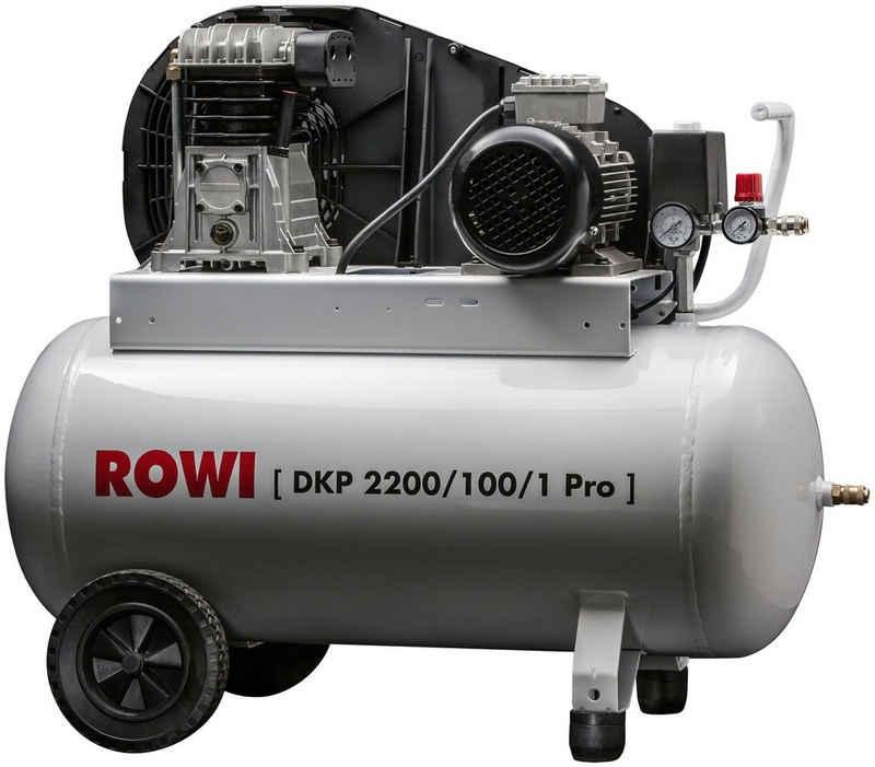 ROWI Kompressor »DKP 2200/100/1 Pro«, 2200 W, max. 10 bar, 100 l, Packung