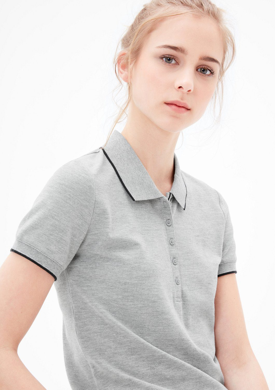 s.Oliver RED LABEL Piqué-Polo mit langer Knopfleiste