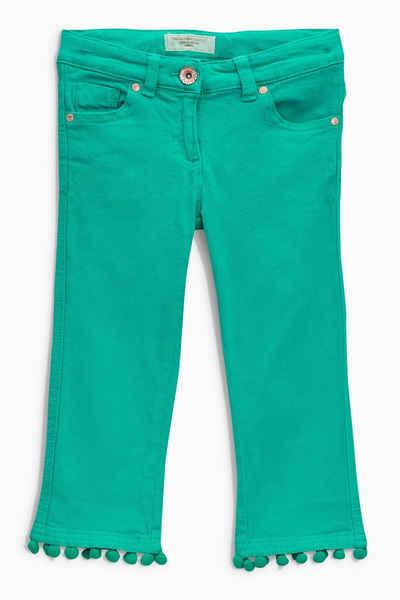 Next Capri-Jeans mit ausgestelltem Bein und Bommelbesatz am Saum Sale Angebote Gastrose-Kerkwitz