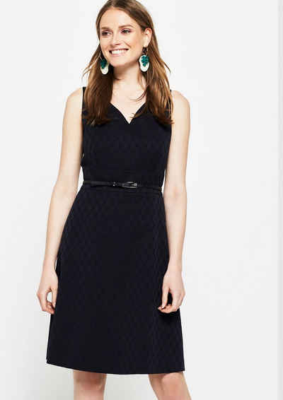 COMMA Businesskleid mit Ton-in-Ton Jacquardmuster Sale Angebote Recklinghausen