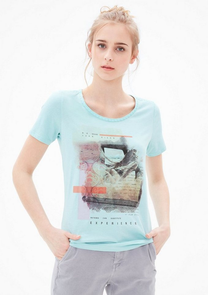 s.Oliver RED LABEL Printshirt mit Stitchings