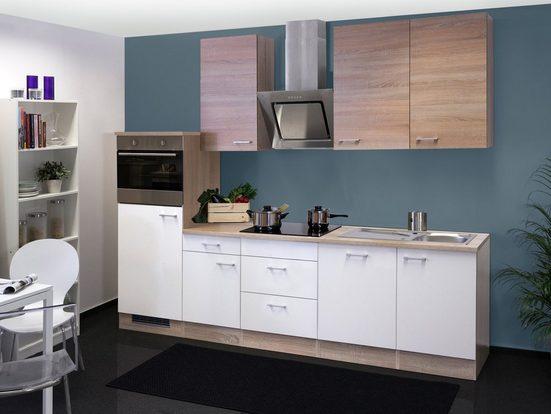 Küchenzeile mit E-Geräten »Samoa«, Gesamtbreite 280 cm
