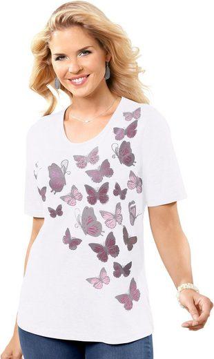Classic Basics Shirt mit süßem Schmetterlings-Druck