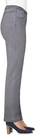 Classic Basics Jeans mit abgesteppte Biesen im Vorderteil