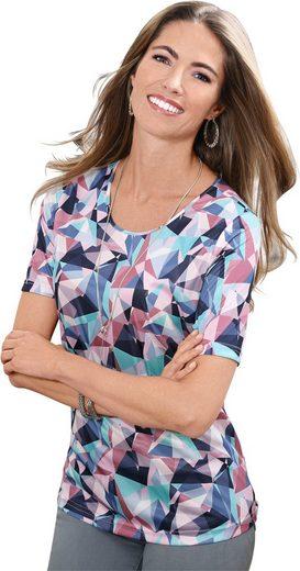 Collection L. Shirt mit paspeliertem Rundhals-Ausschnitt