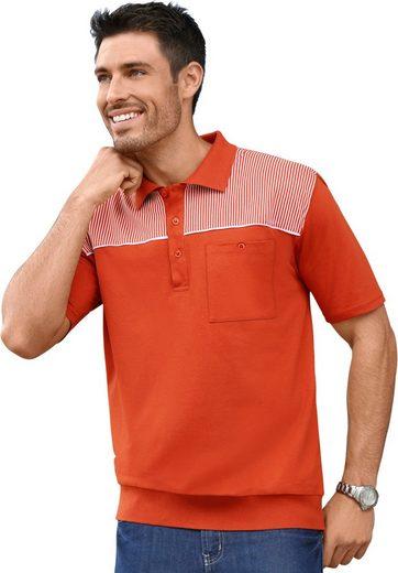 Classic Poloshirt im feinen Streifen-Dessin
