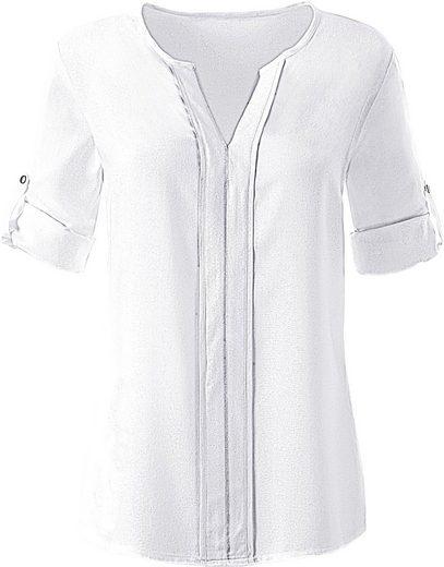 Collection L. Bluse mit optisch streckender Blend