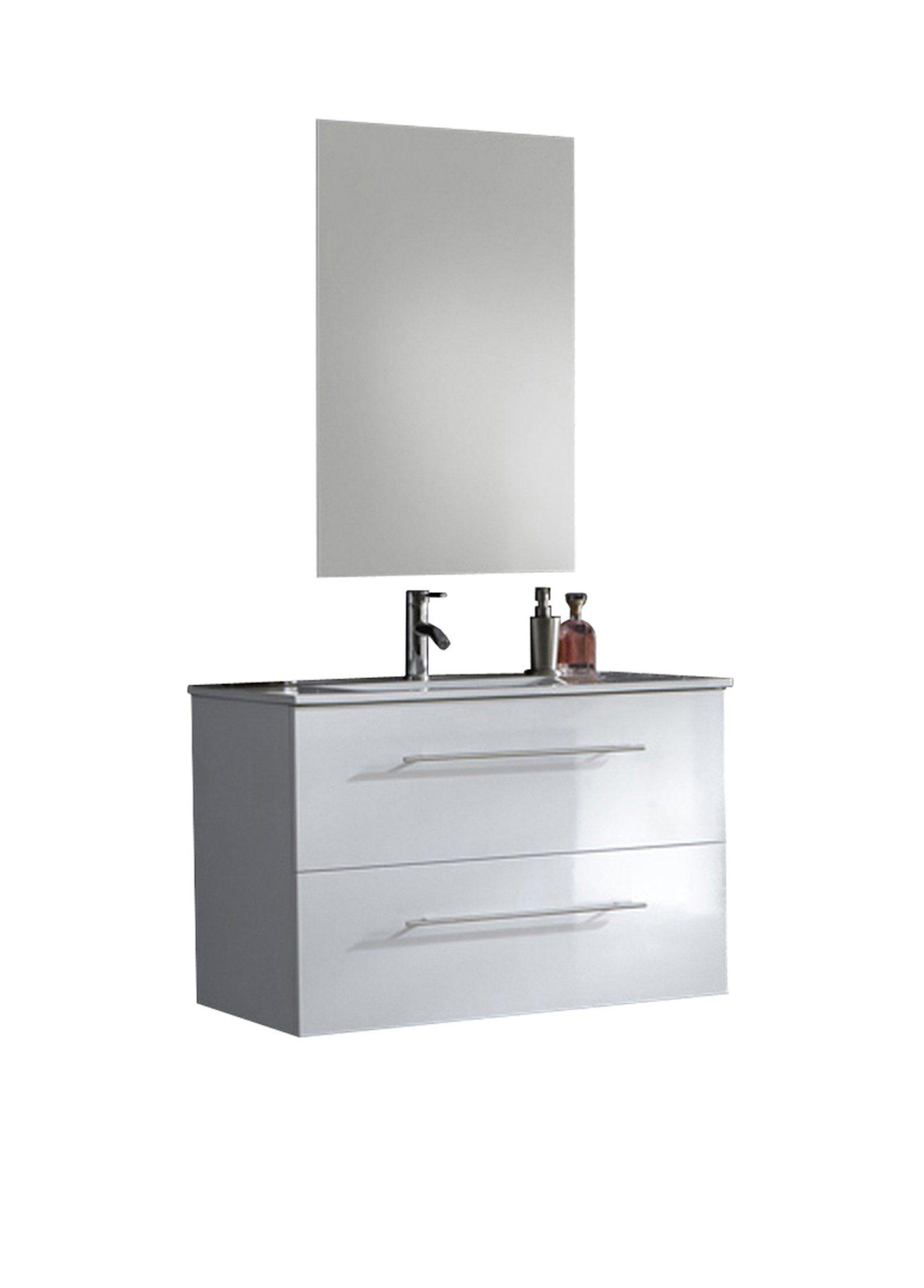 SalesFever Badmöbel-Set, Breite 90 cm (2-tlg.) Light »Basia«