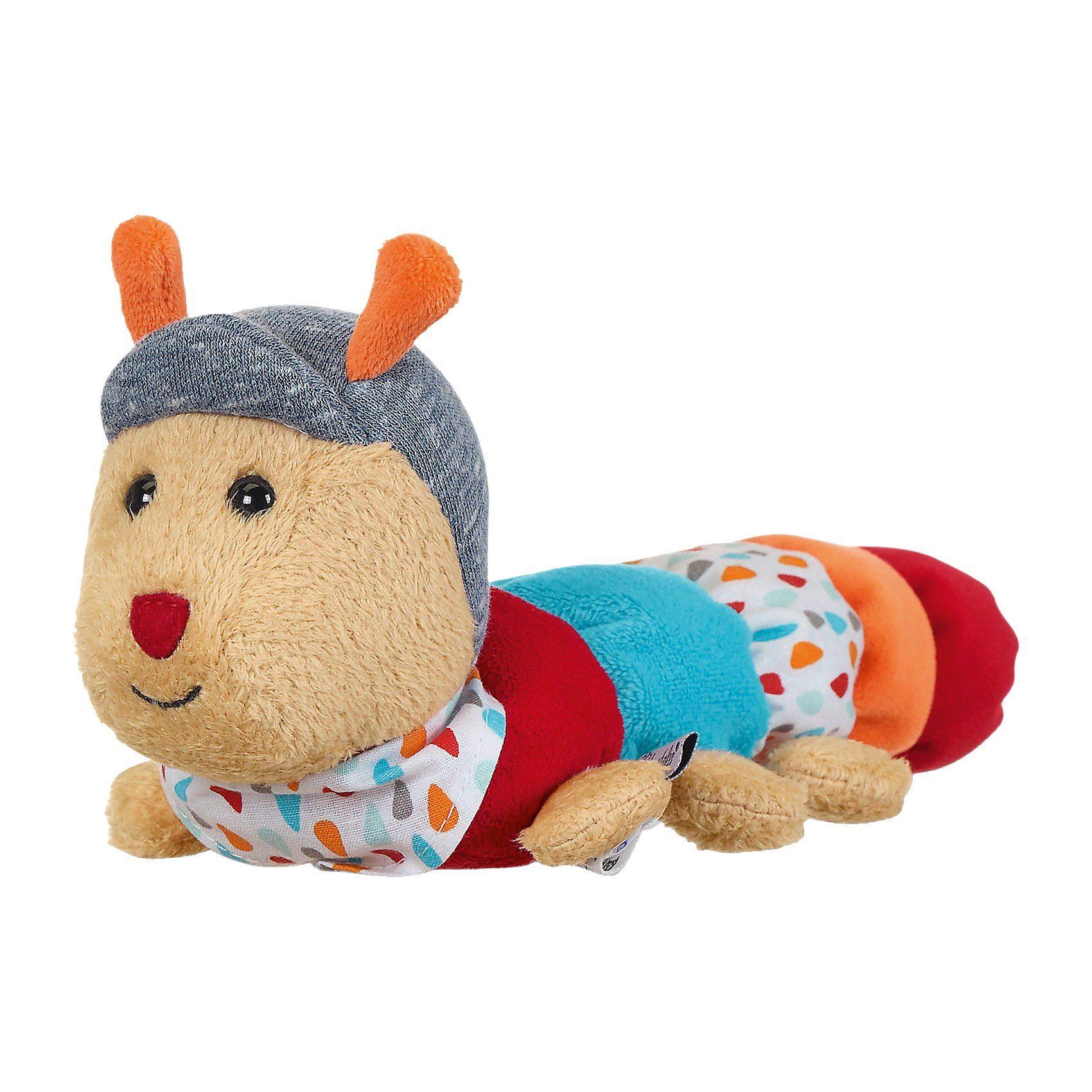 Mini-Spieltier Raupe Rudi mit Rassel