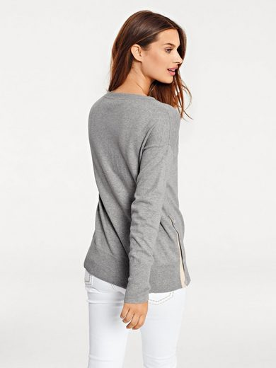 Bc Best Connections By Heine Crew-neck Sweater Laterally To The Button
