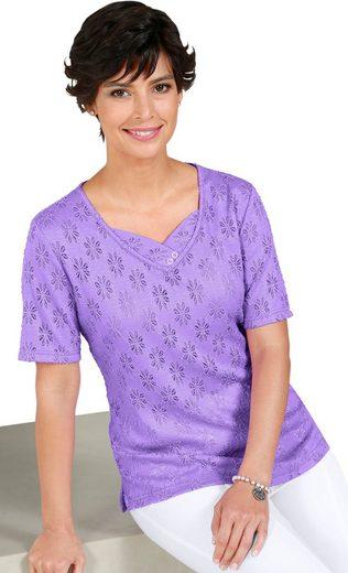 Classic Basics Shirt in sommerleichter Spitzen-Qualität