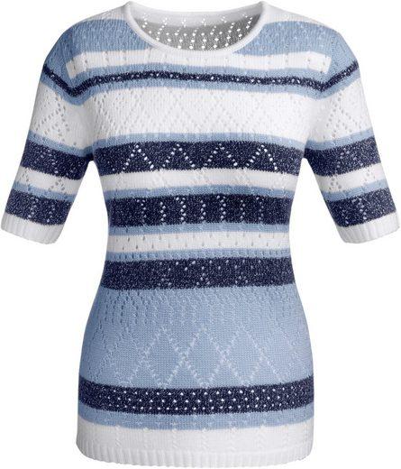 Classic Basics Pullover mit silberfarbigen Akzenten