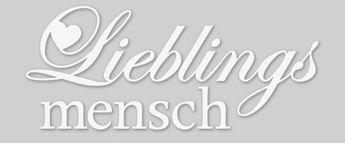 EUROGRAPHICS Dekobuchstaben »Lieblingsmensch«, 60/25 cm
