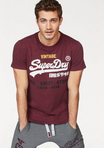 Superdry T-Shirt SHIRT SHOP TRI TEE