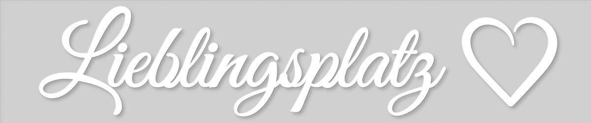 EUROGRAPHICS Dekobuchstaben »Lieblingsplatz«, 120/25 cm