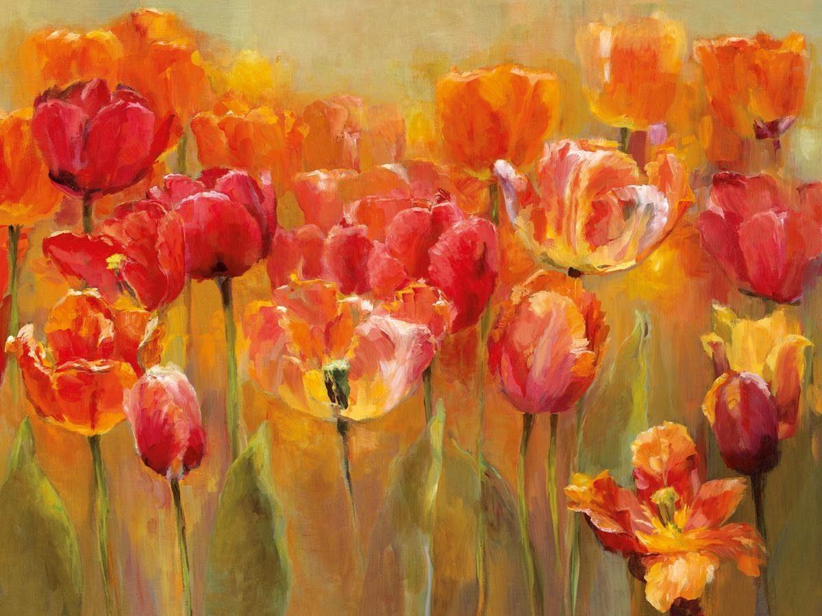 EUROGRAPHICS Leinwandbild »Tulips in the Midst«, 80/60 cm