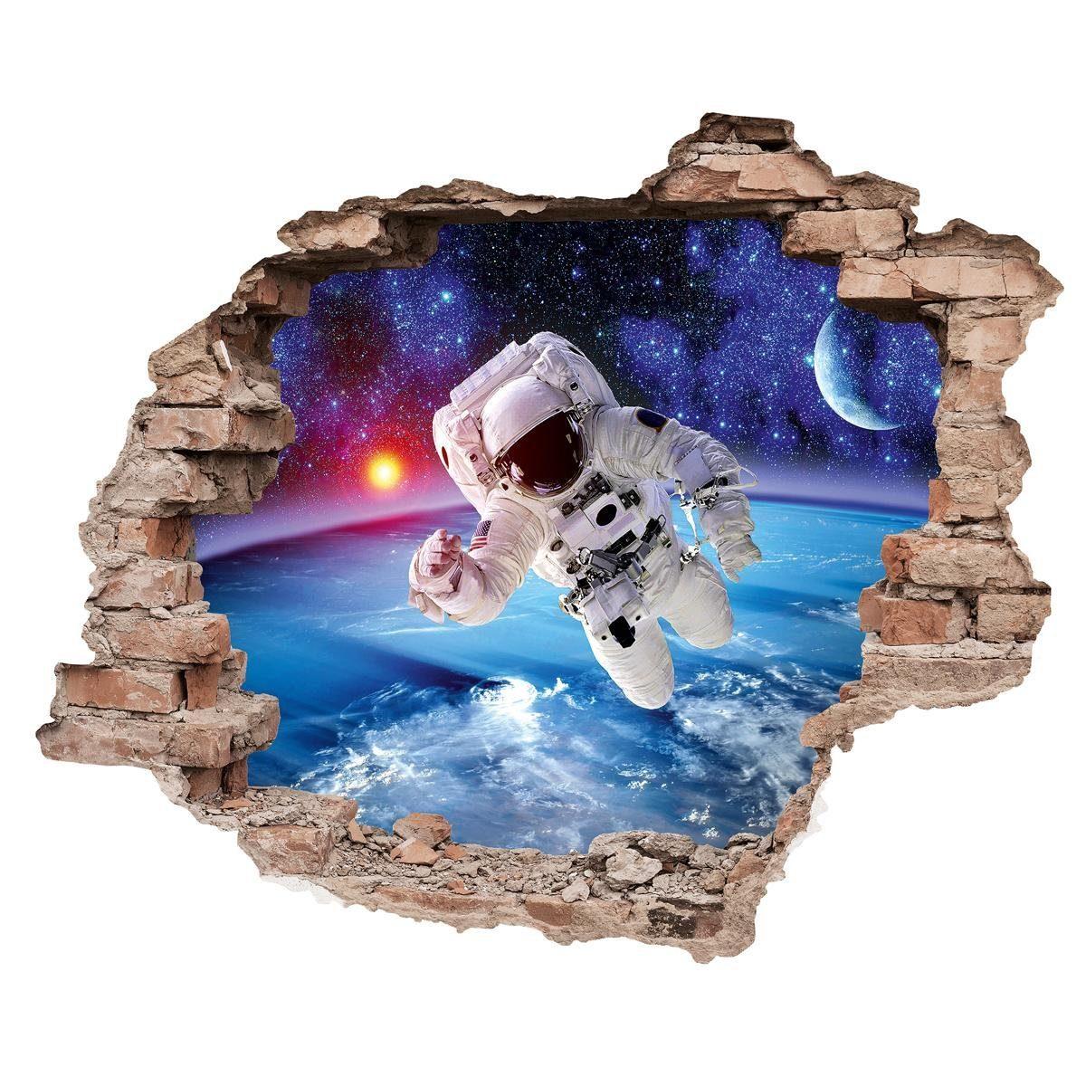 EUROGRAPHICS Wandtattoos »Astronaut Spaceman«, 70/50 cm