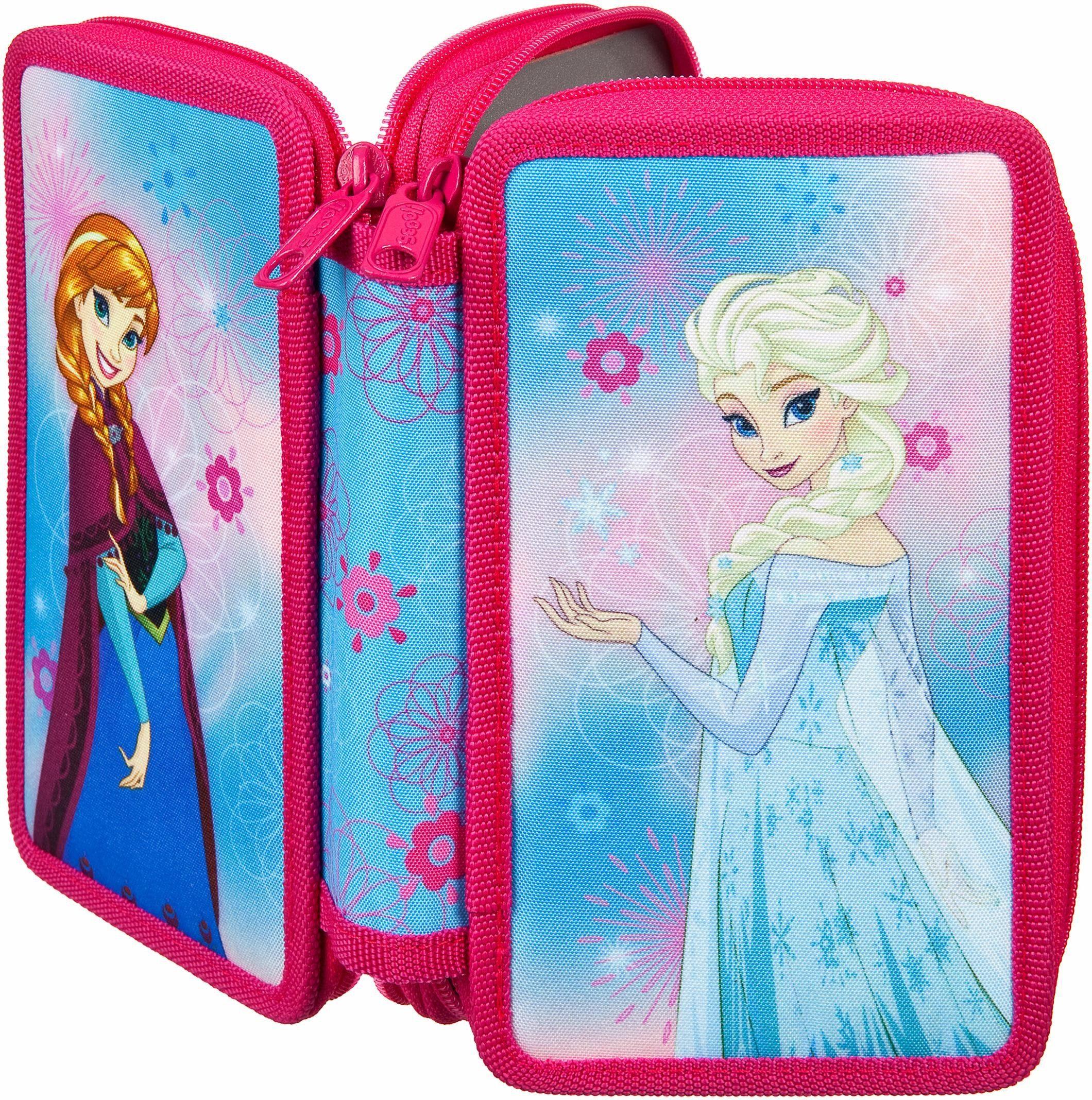 Scooli Mäppchen mit Geodreieck, »Doppeldecker Schüleretui Disney Frozen«