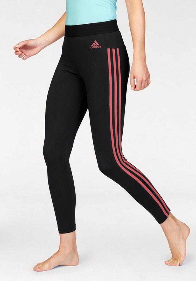 adidas performance leggings essentials 3 stripes tight. Black Bedroom Furniture Sets. Home Design Ideas