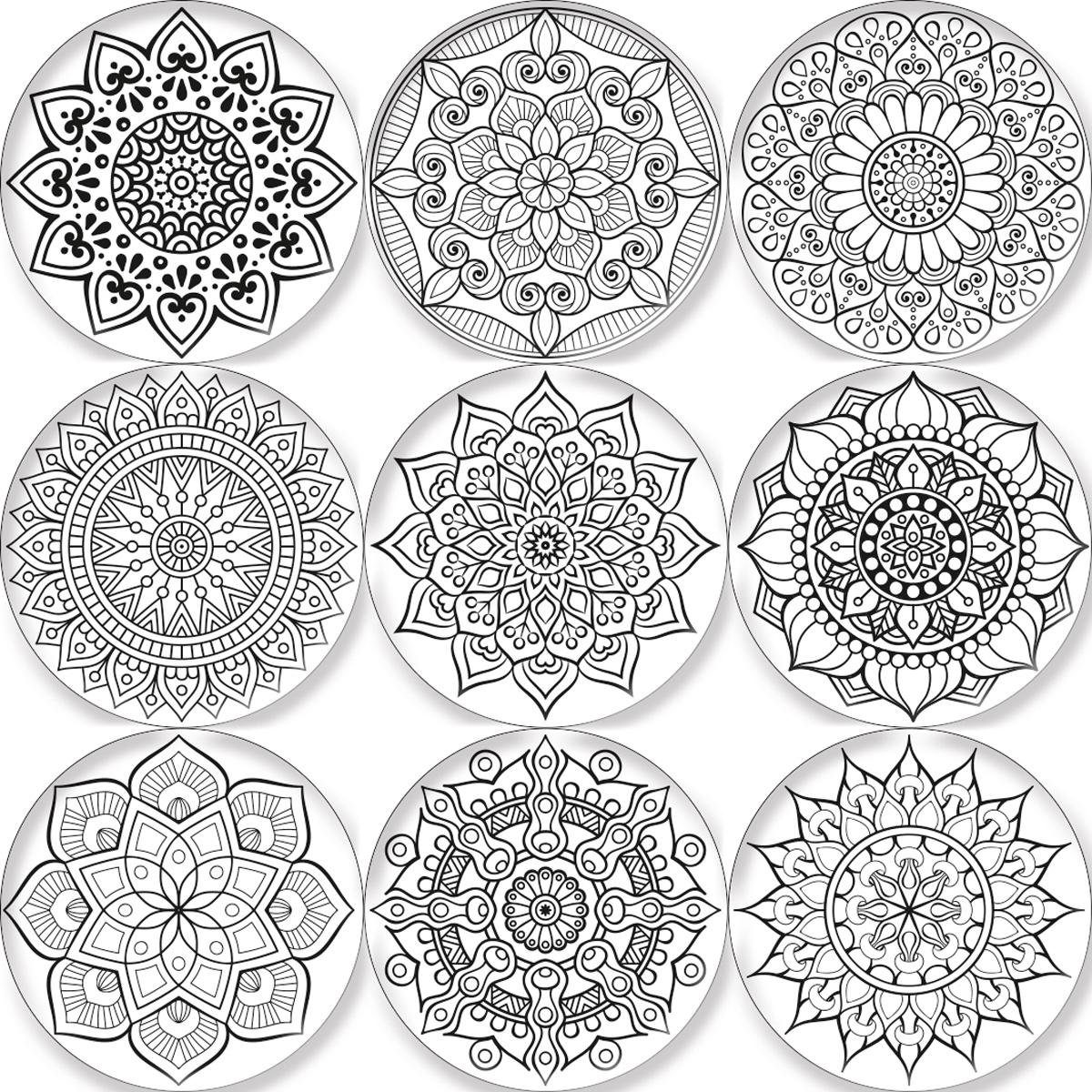 EUROGRAPHICS Magnete-Set »Indian Mandalas«, 9 Stück