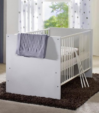 babybett passend zur m belserie kopenhagen in wei matt. Black Bedroom Furniture Sets. Home Design Ideas
