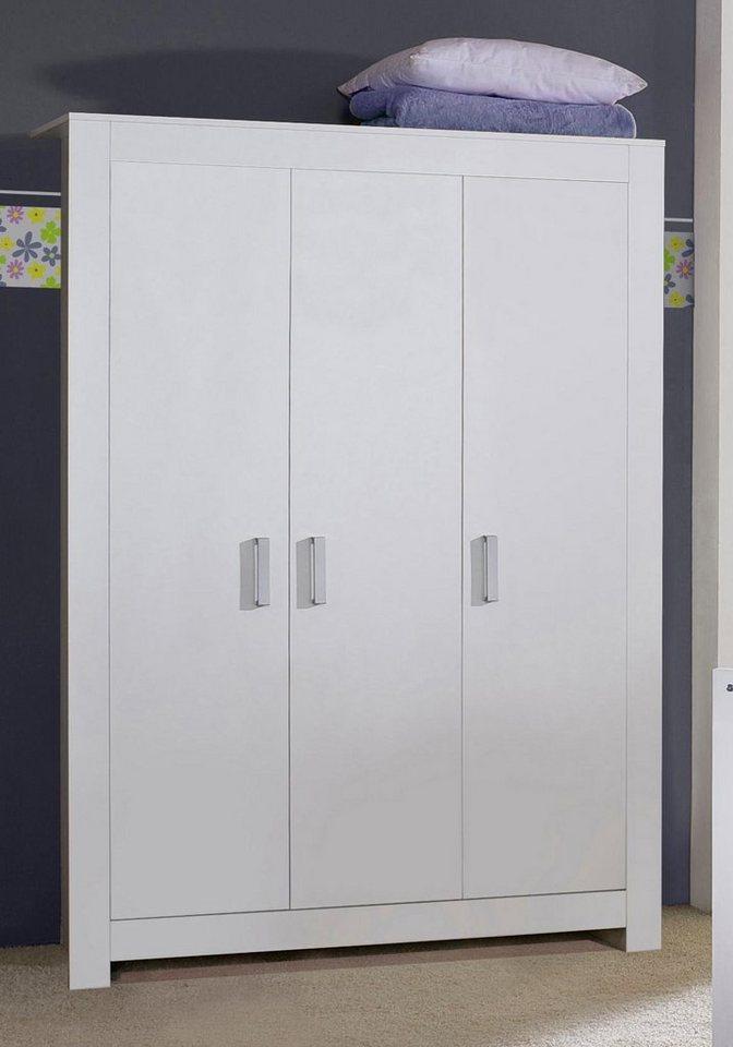 3 tlg schrank passend zur m belserie kopenhagen in wei matt online kaufen otto. Black Bedroom Furniture Sets. Home Design Ideas