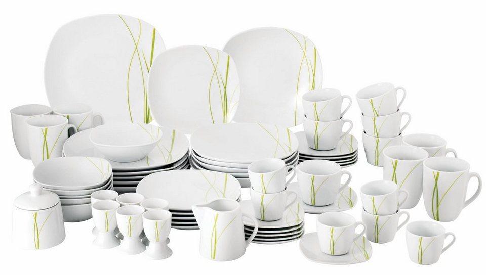 van well kombiservice bali 62 tlg porzellan sp lmaschinengeeignet online kaufen otto. Black Bedroom Furniture Sets. Home Design Ideas
