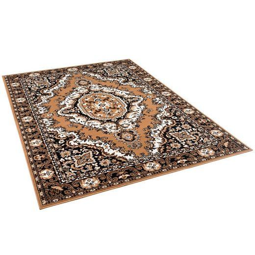 Orientteppich »Orient Teppich Trendline Beige Keshan«, Pergamon, Rechteckig, Höhe 8 mm