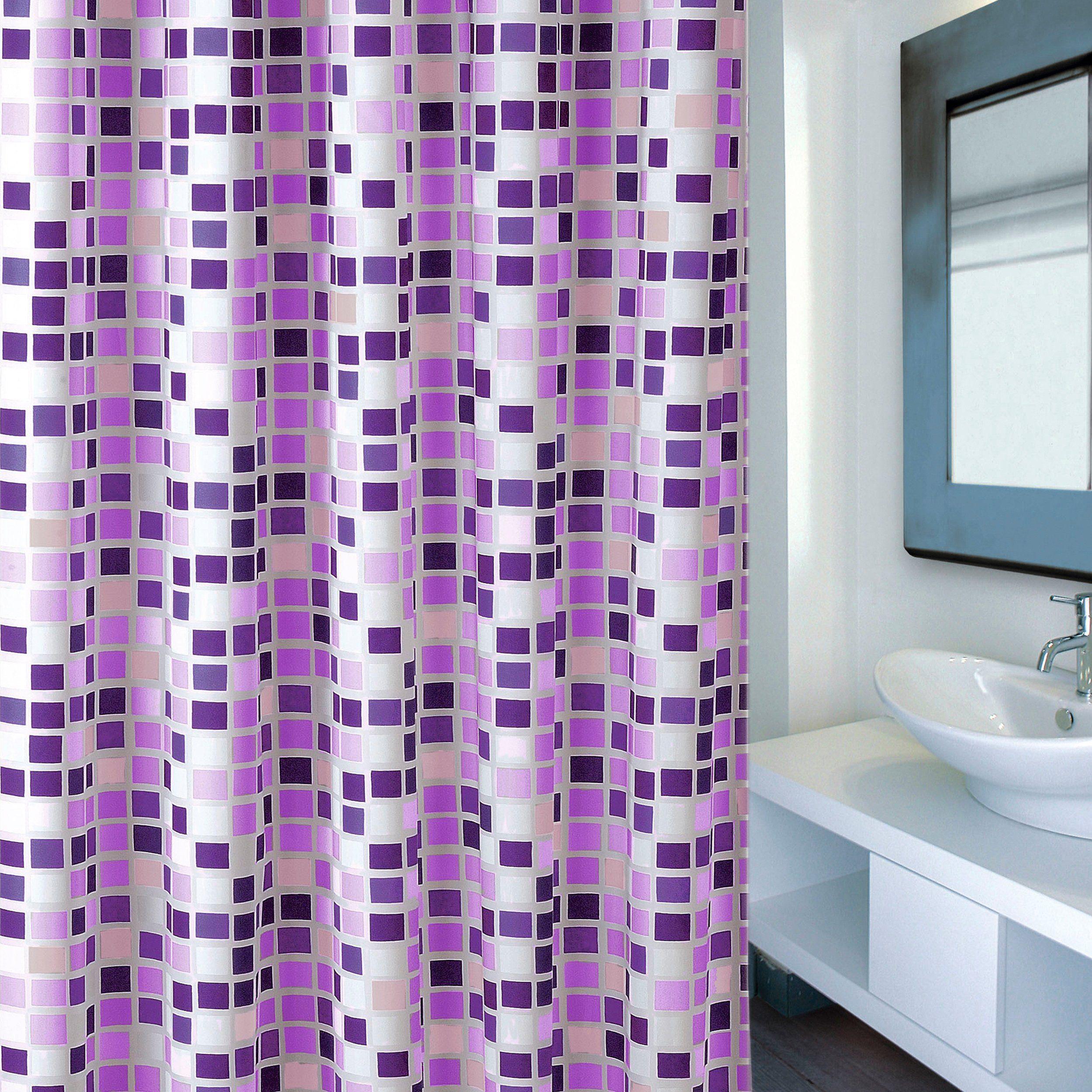 MSV Duschvorhang »Premium Mosaico Violet«