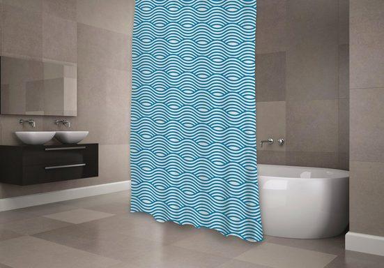 MSV Duschvorhang »Premium Sahara blau«