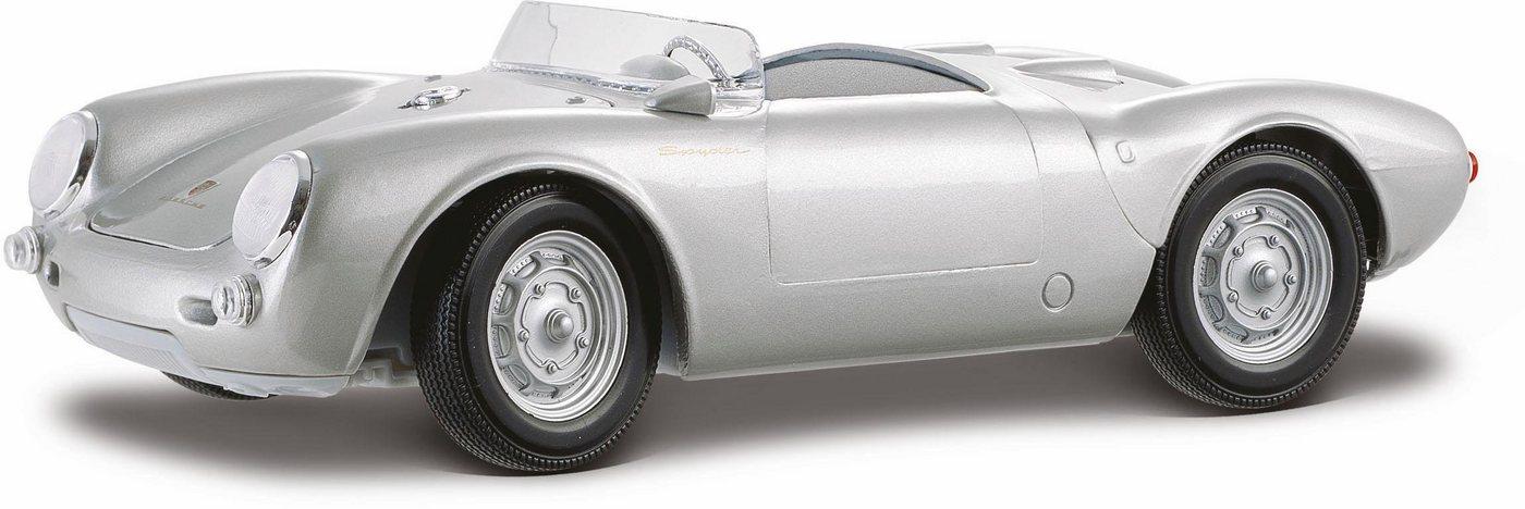 Maisto Sammlerauto, »Porsche 550A Spyder, 1:18, silberfarben«