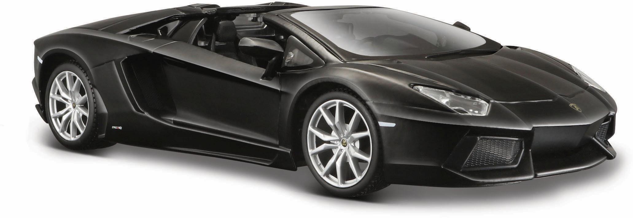 Maisto® Sammlerauto, »Dull Black Collection, Lamborghini Aventador LP-700-4 Roadster«, 1:24, schwarz«