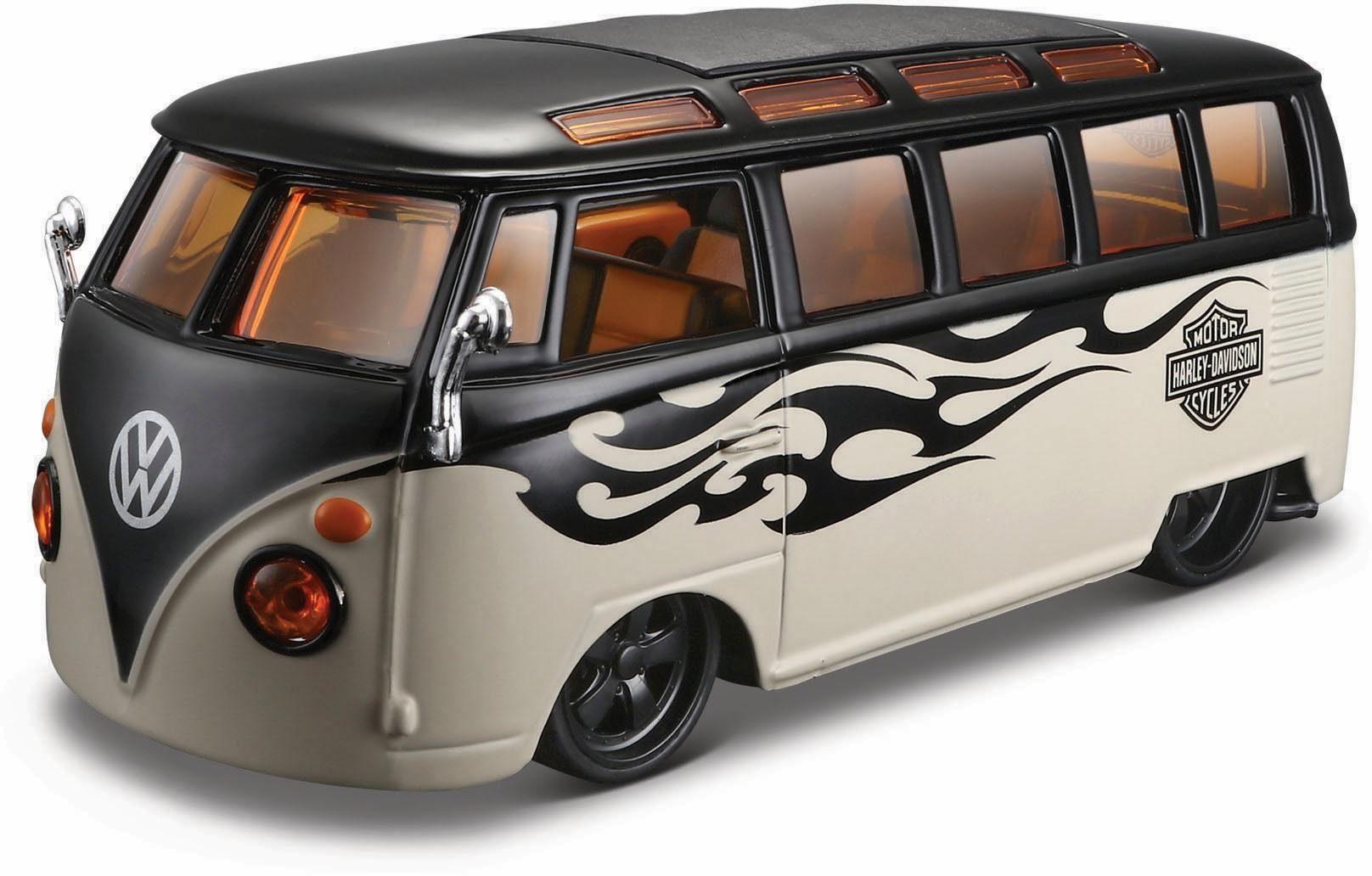 Maisto® Sammlerauto, »VW Bus Samba HD, 1:24, grau/schwarz«