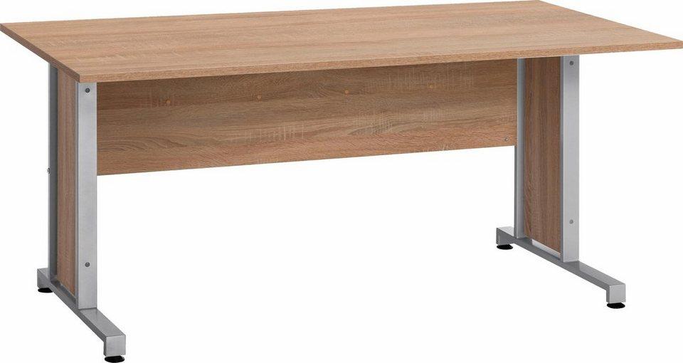 maja m bel schreibtisch system mit kabeldurchlass in der arbeitsplatte online kaufen otto. Black Bedroom Furniture Sets. Home Design Ideas