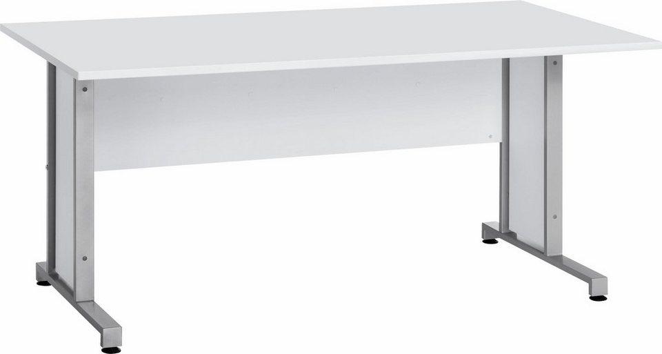 MAJA-Möbel Schreibtisch »System« mit Kabeldurchlass in der ...