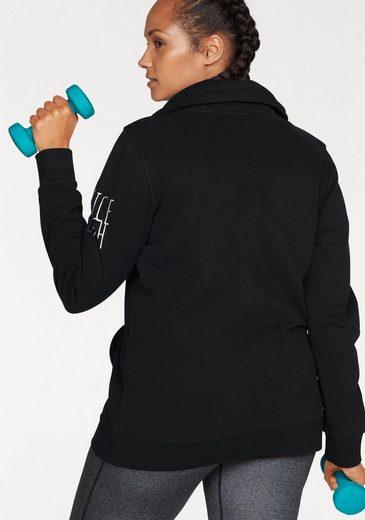 Venice Beach Sweat Jacket With High Collar