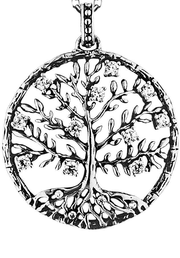 Julie Julsen Kettenanhänger »Poems of Life COLLECTION, Lebensbaum Crystal Tree, JJ8810.6« mit Zirkonia
