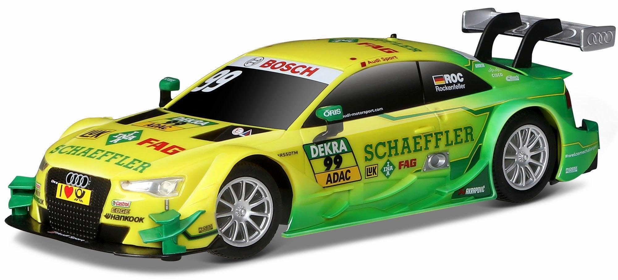 Maisto Tech® RC Auto, »Audi RS5 DTM '15, 1:24, 27/40 MHz, gelb/grün«