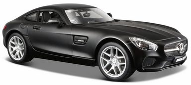 Maisto® Sammlerauto »Dull Black Collection, Mercedes AMG GT, 1:24, schwarz«, Maßstab 1:24, aus Metallspritzguss