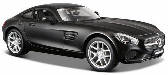 Maisto® Sammlerauto »Dull Black Collection, Mercedes AMG GT, 1:24, schwarz«, Maßstab 1:24, aus Metallspritzguss