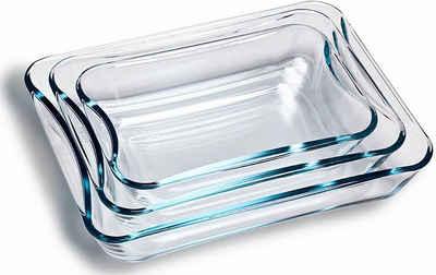 SIMAX Auflaufform, Glas, (3-St), Borosilikatglas